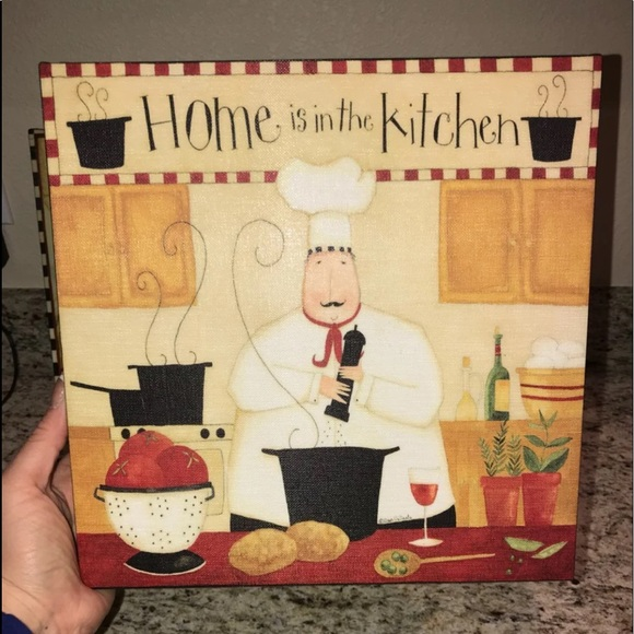 Dan Dipaolo Wall Art Fat Chef Kitchen Decor Poshmark